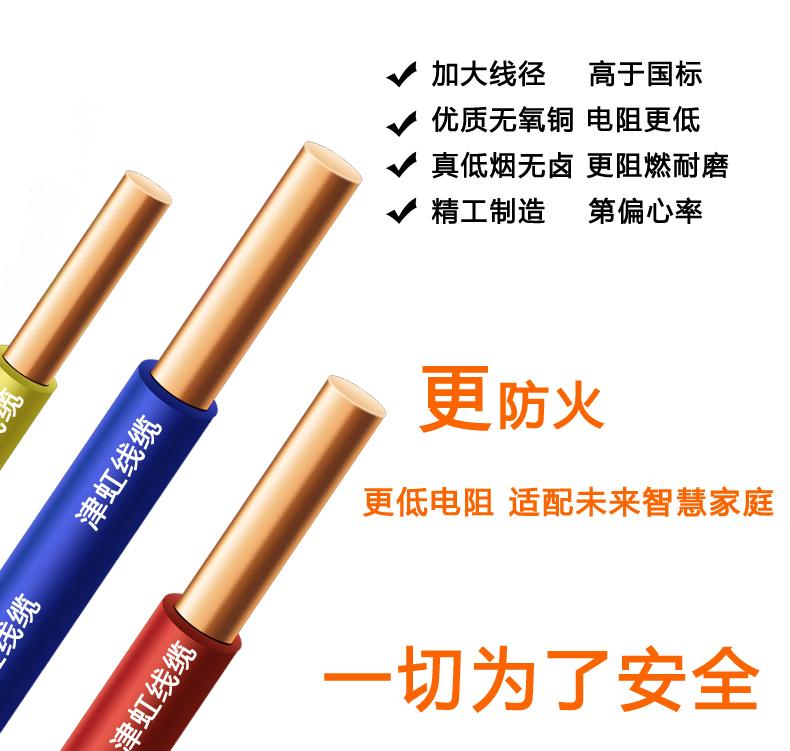 津虹防火电线(爱家系列),防火抗老化,家装电线
