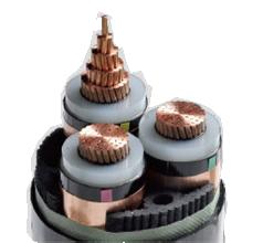 铜芯高压电力电缆 YJV22 3x35 35KV